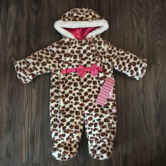 44bab803d wippette Jackets & Coats | Nwt Leopard Print Baby Bunting Snowsuit ...